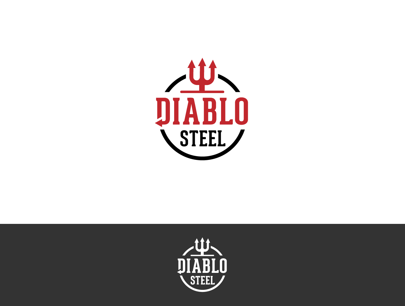 Create a develish look for a steelplate