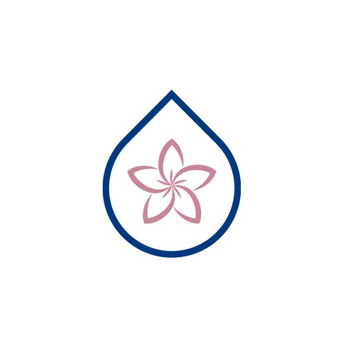 Magnolia flower inspired design for a car wash company