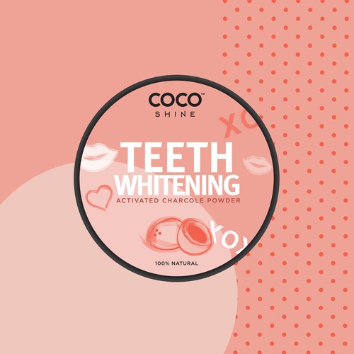 Label design for a beauty brand's teeth whitening powderf