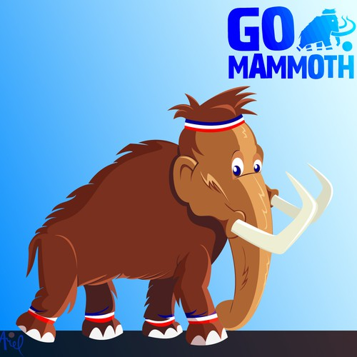 Mammoth Mascot (2D Illustrator with Depth to Pop)