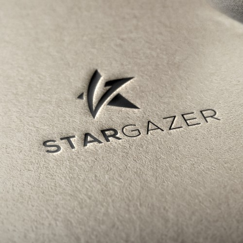use star and combination with G letter for logo stargazer