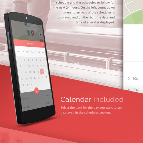 Beautiful design for a transit app
