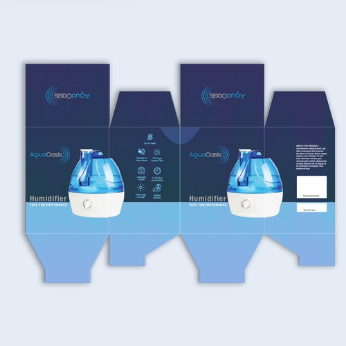 Blue theme package design