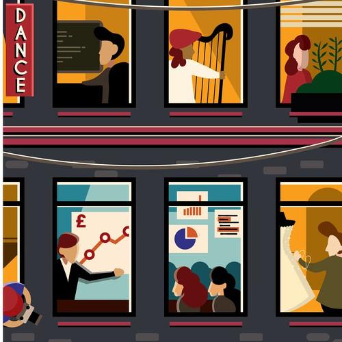 Poster illustration concept for Foundation Scotland