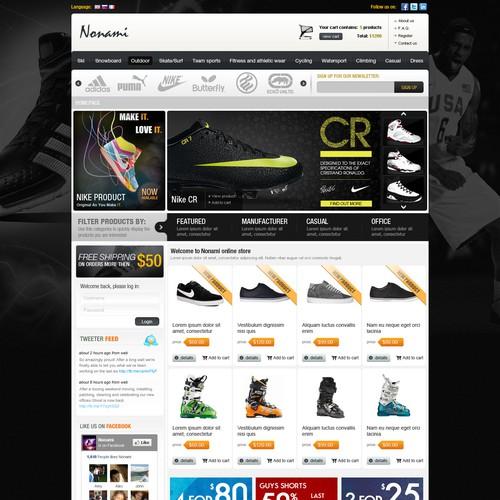 Online sport article website design