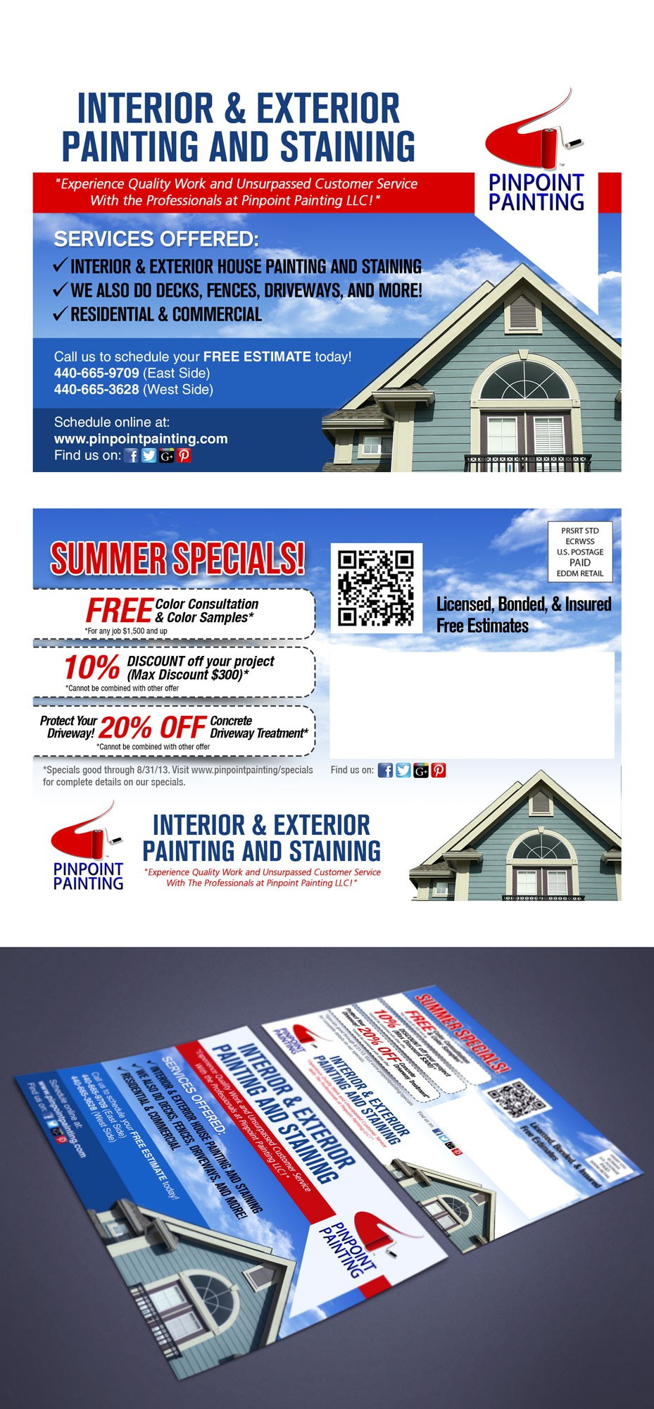 Create the next postcard or flyer for Pinpoint Painting LLC