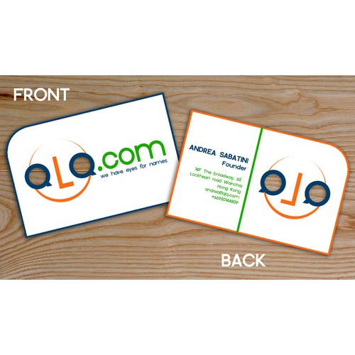 QLQ.com, business card
