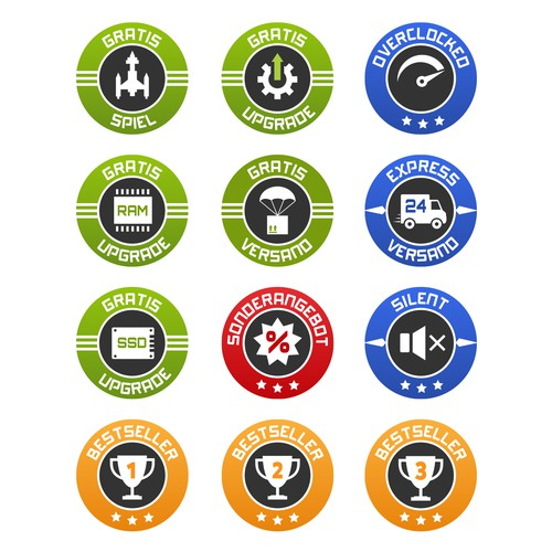 Icons for computer sells website