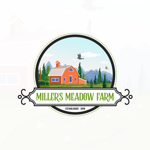 Millers Meadow Farm Logo Design