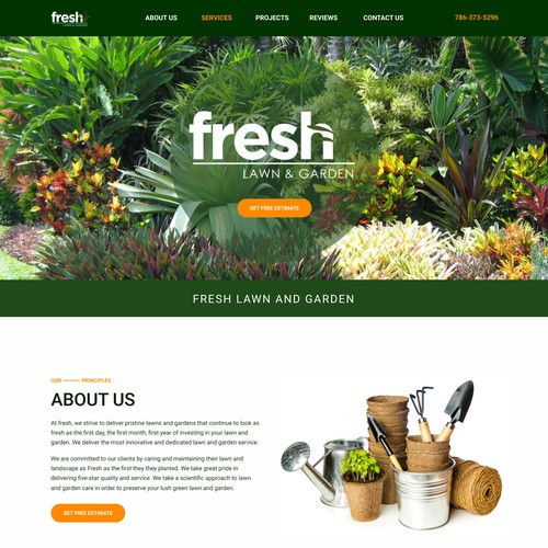 Gardening & Landscaping Web Design Concept