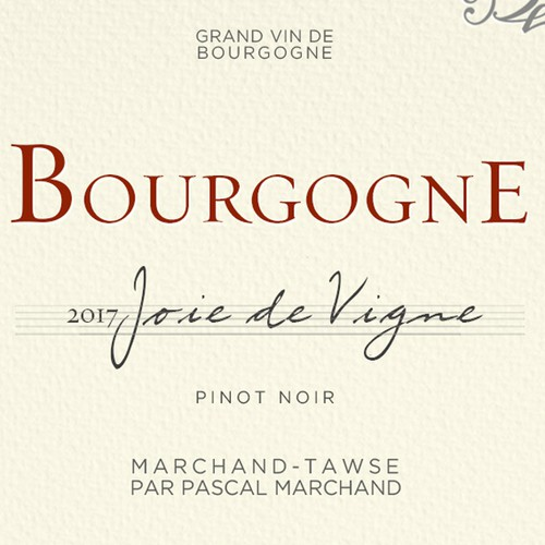 "Label design for ""Marchand Tawse"" wine"