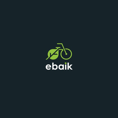 Retail - electric bikes and green transport logo