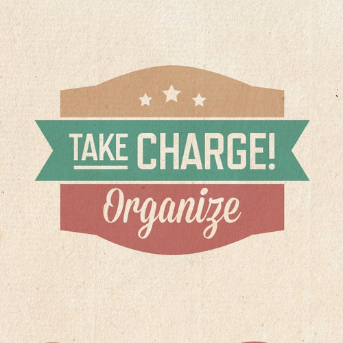 Create a clean, simple logo design for Take Charge! Organize.