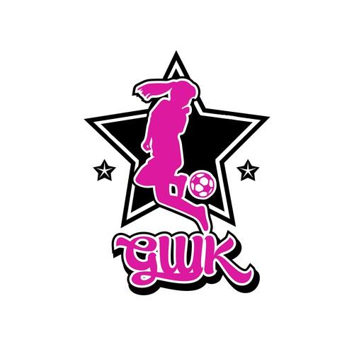 logo concept for football girls group