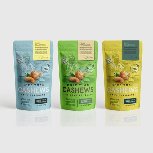 Organic Cashews Packaging