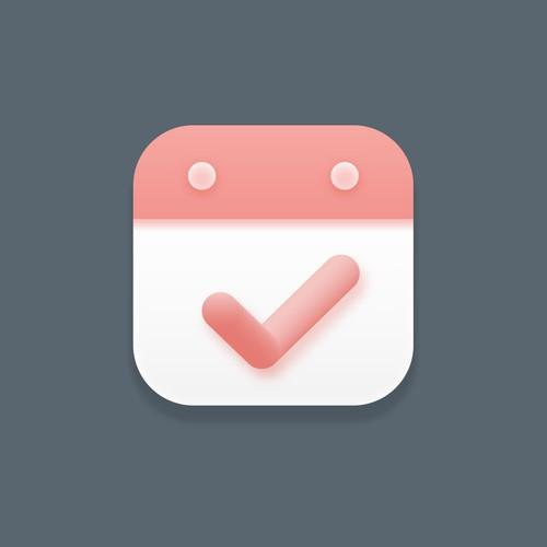 Calender right todo app icon design