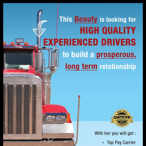 Recruiting truck driver Ad