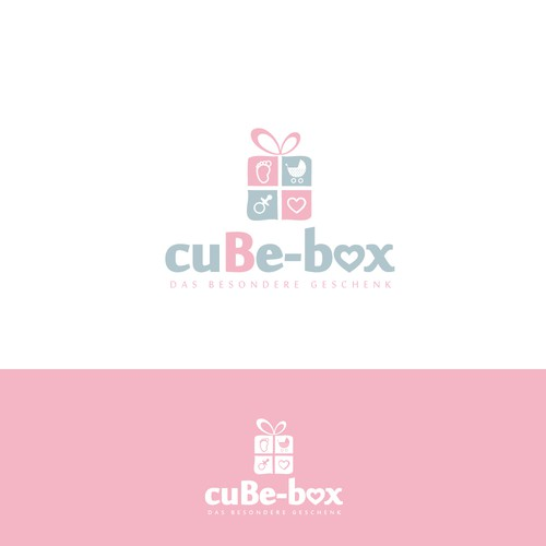 simple logo design for a baby gift shop