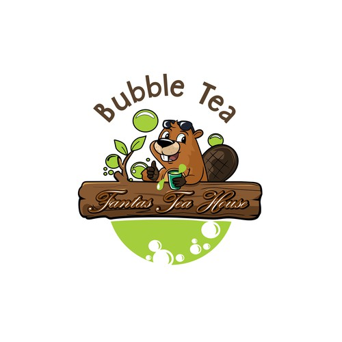 beaver bubble tea logo
