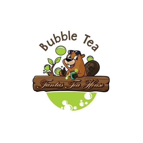 beaver bubble tea logo