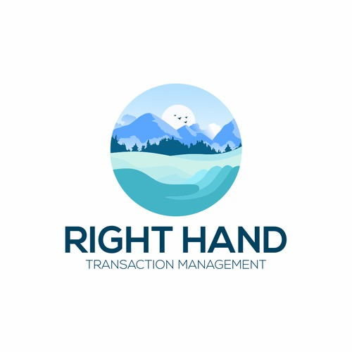 a logo for right hands transaction