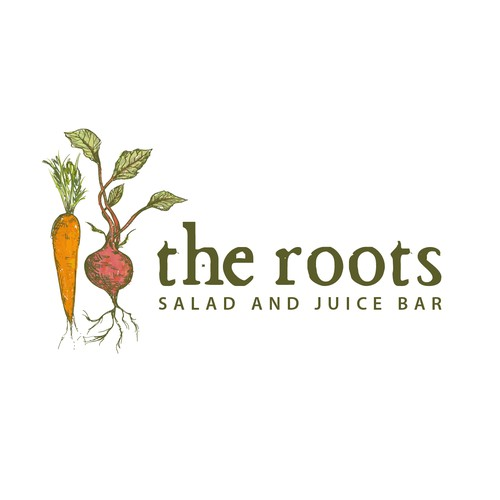 Salad and juice bar Logo