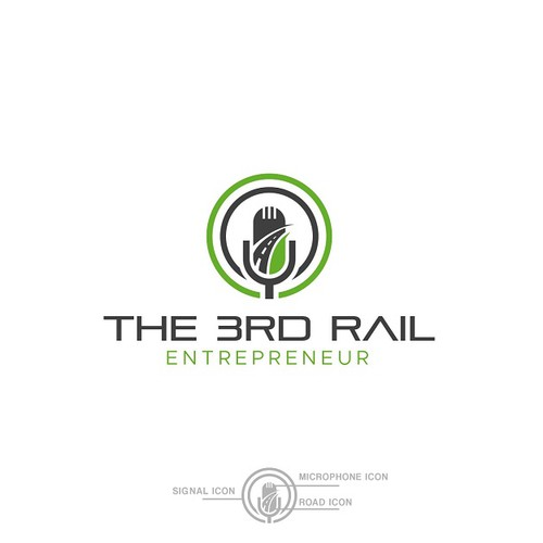 Rail road construction podcast logo