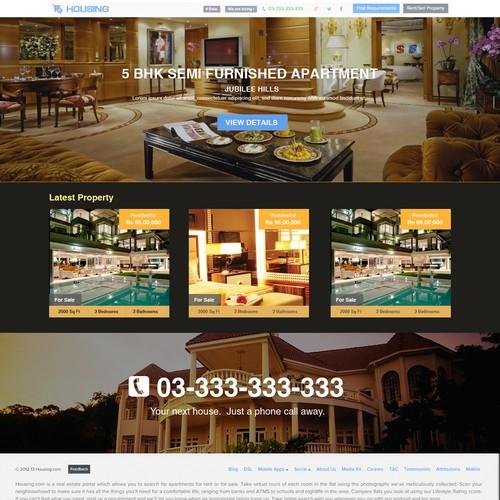 Housing.com homepage concept.