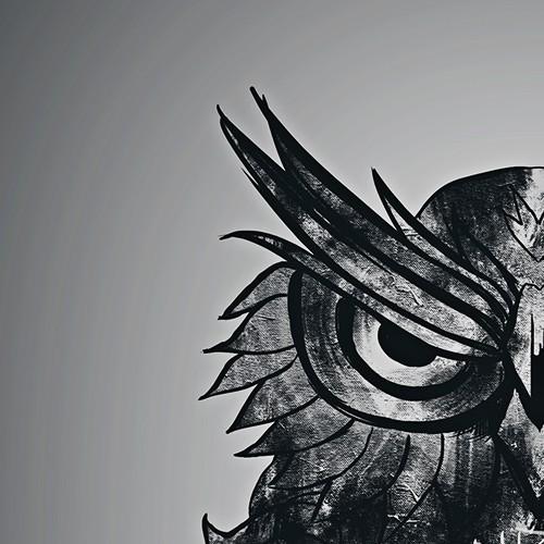 Owl Grayscale Tattoo