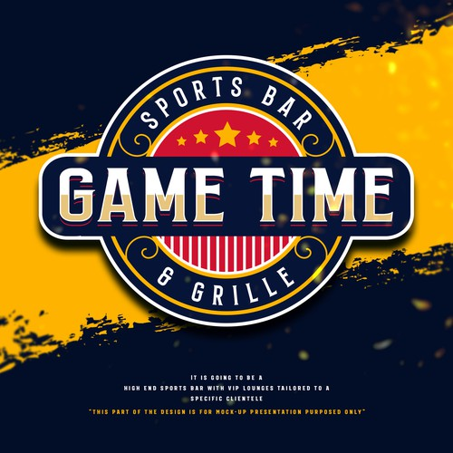 Sports Bar Logo for GAME TIME