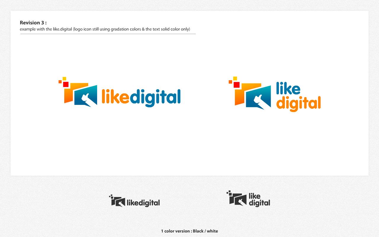 Help like.digital with a new logo