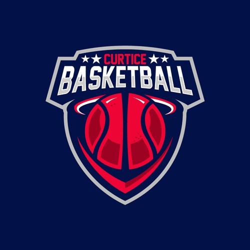 Basketball Team Badge Design Logo