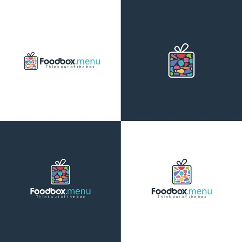 Creative Logo concept for foodbox.menu