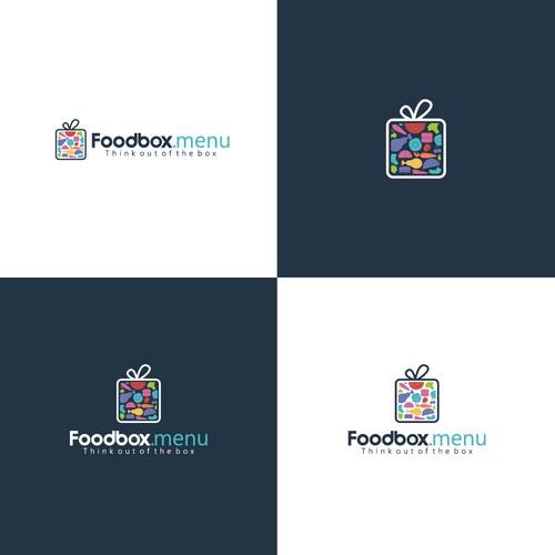 Creative Logo concept for foodbox.menu