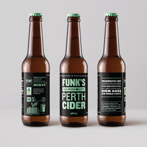 Create a Punchy and New World Bold Cider Bottle Label!