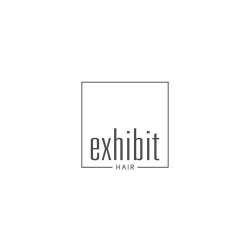 Logo for Exhibit hair