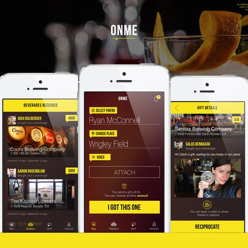 OnMe makes it easy for you to buy a drink for a friend - at any bar.