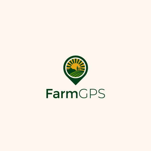 Luxurious logo for Farm GPS Company.