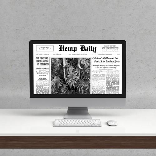 Logo design for Hemp Daily