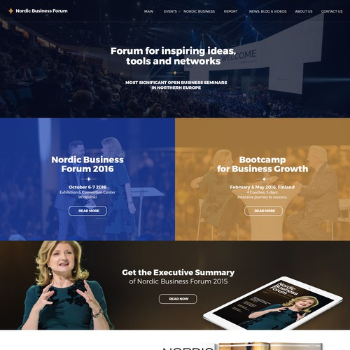 Homepage for Nordic Business Forum