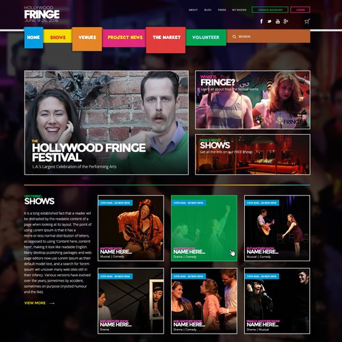 Funky & Bright Website Design