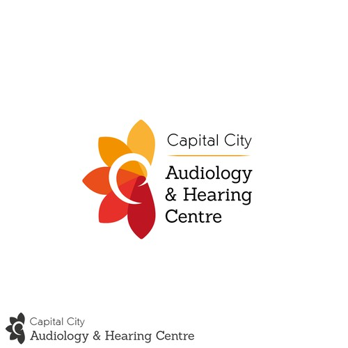 Fun logo with some relationship with the ear.