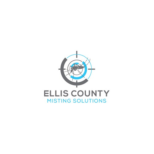 Unique and organic logo for Ellis County Misting solution