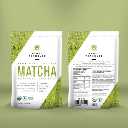 Matcha Tea packaging