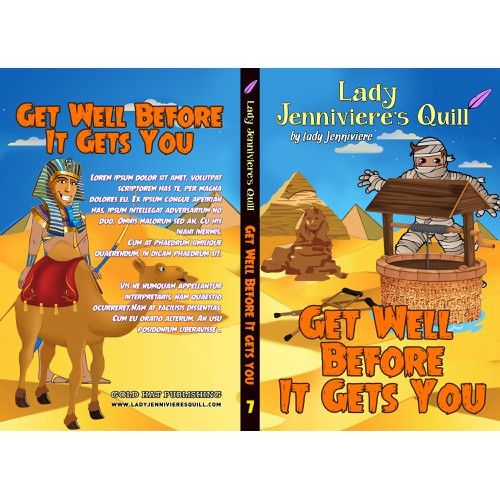 create book e-book and print cover for preteen book Get Well Before it Gets You