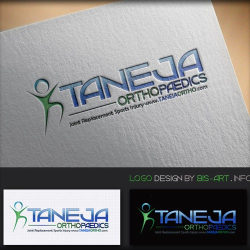 CREATIVE, IMAGINATIVE & STUNNING, LOGO WITH BOLD COLOURS FOR ORTHOPAEDIC SURGEON'S PRACTICE