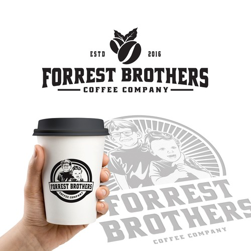 Logo concept for Forrest Brothers Coffee Company.