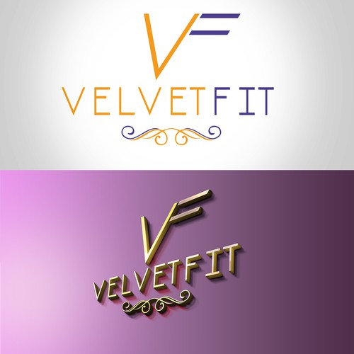 Logo for an exclusive fitness club