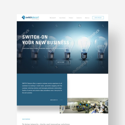 Web concept for telecommunications business
