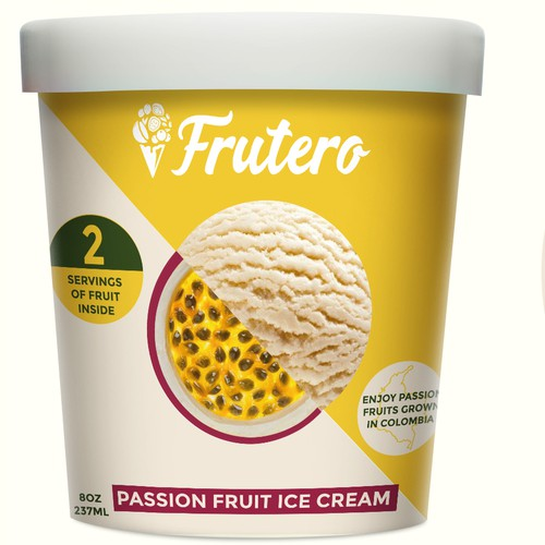 Bold Packaging for Natural Ice Cream